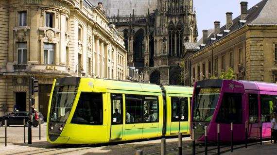 Tramway du réseau Citura de Reims